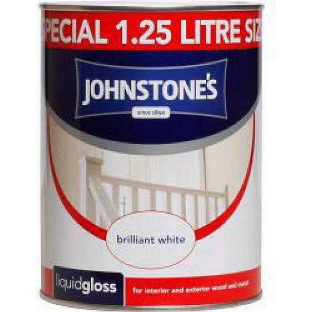 Johnstones Liquid Gloss Wood Paint, Metal Paint White 1.25L
