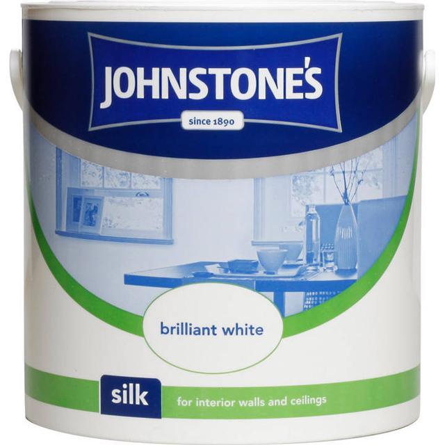 Johnstones Silk Wall Paint, Ceiling Paint White 10L
