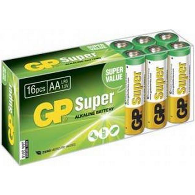 GP Batteries AA Super Alkaline 16-pack