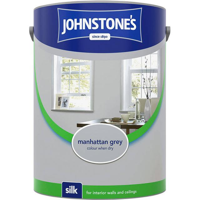 Johnstones Silk Wall Paint, Ceiling Paint Grey 2.5L