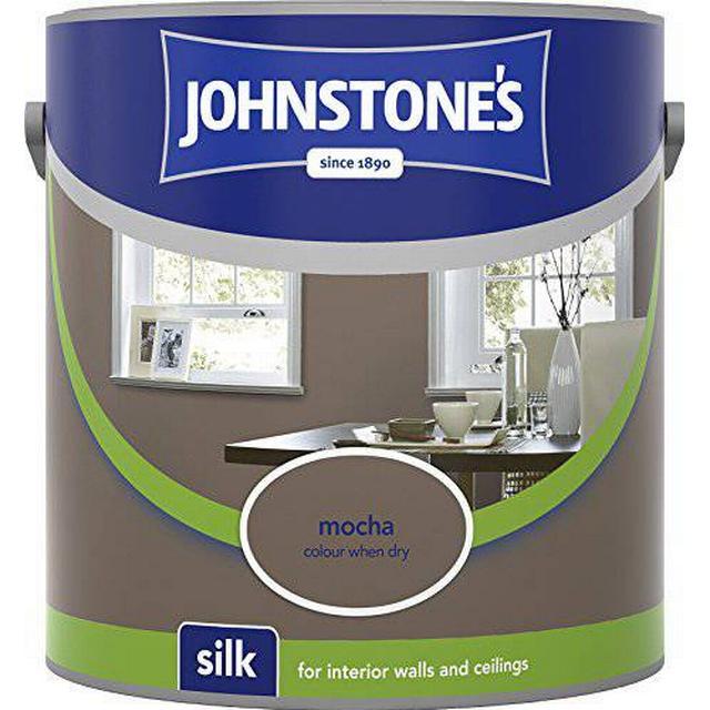 Johnstones Silk Wall Paint, Ceiling Paint Brown 2.5L