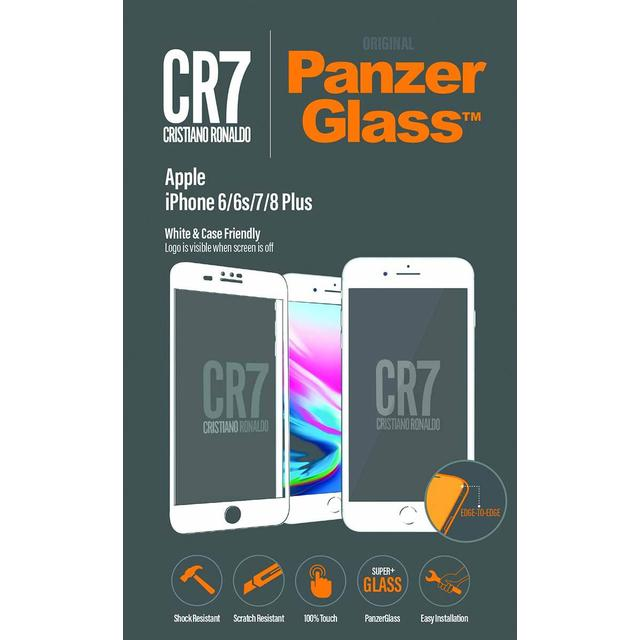 PanzerGlass CR7 BrandGlass Screen Protector White (iPhone 6/6S/7/8 Plus)