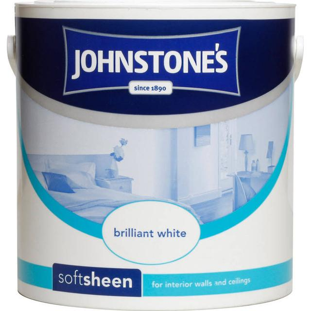 Johnstones Soft Sheen Wall Paint, Ceiling Paint White 2.5L