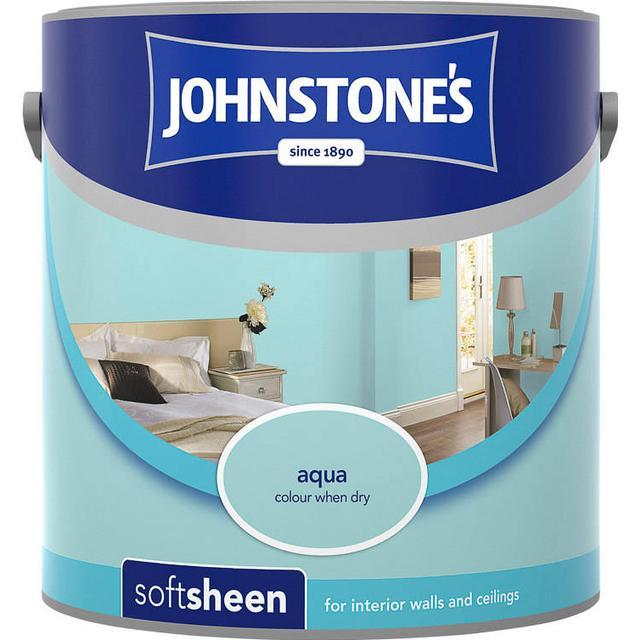 Johnstones Soft Sheen Wall Paint, Ceiling Paint Blue 2.5L