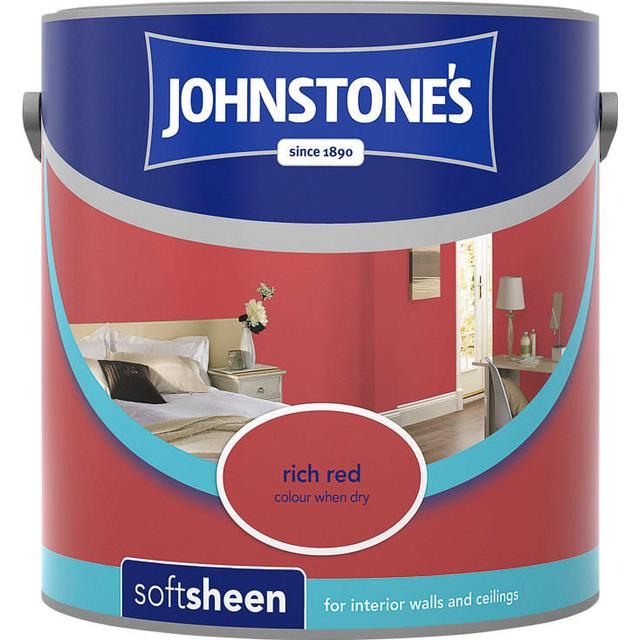 Johnstones Soft Sheen Wall Paint, Ceiling Paint Red 2.5L