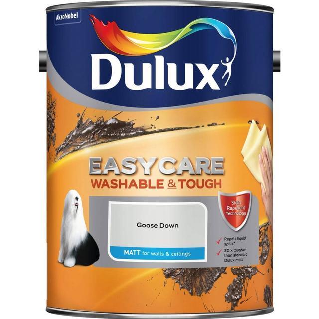 Dulux Easycare Washable & Tough Matt Wall Paint, Ceiling Paint Grey 5L