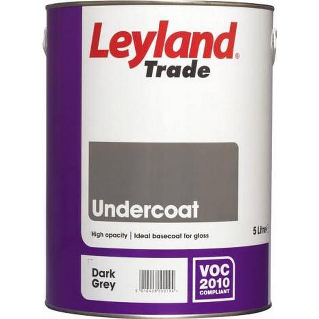 Leyland Trade Undercoat Wood Paint, Metal Paint Grey 5L