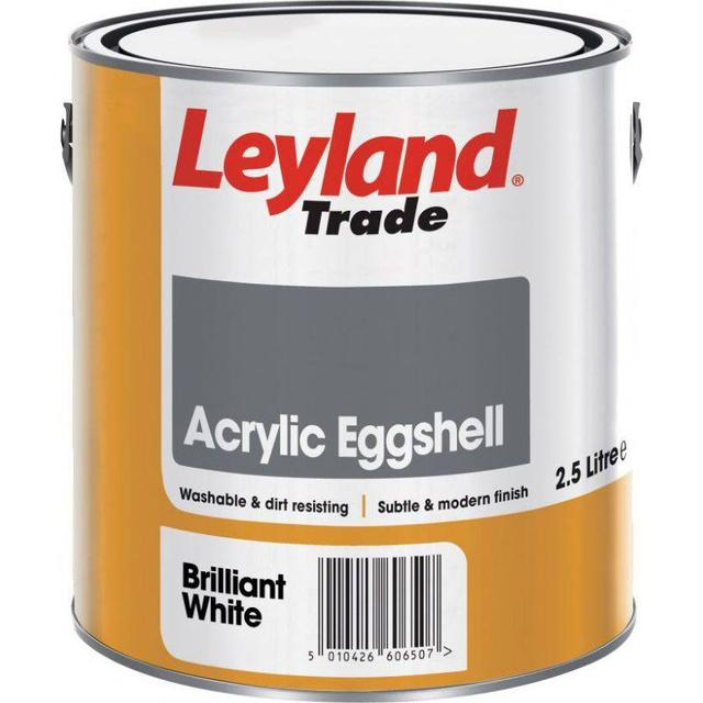 Leyland Trade Acrylic Eggshell Wall Paint, Ceiling Paint Beige 2.5L