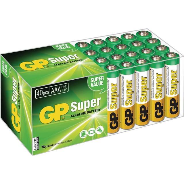 GP Batteries AAA Super Alkaline Compatible 40-pack