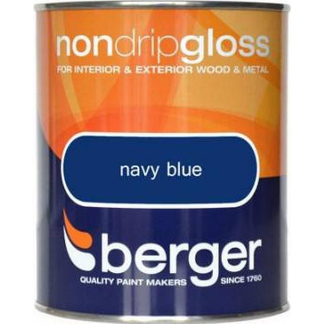 Berger Non Drip Gloss Wood Paint, Metal Paint Blue 0.75L