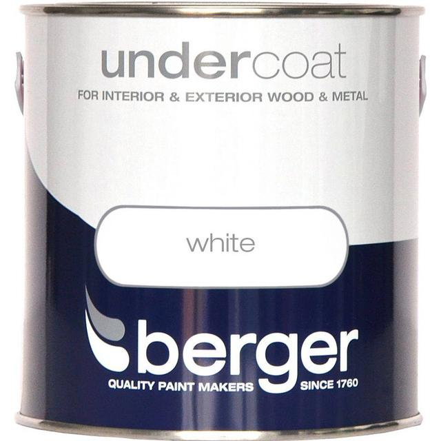 Berger Undercoat Wood Paint, Metal Paint White 2.5L