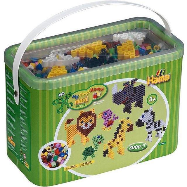 Hama Maxi Beads & Pegboards in Bucket 8804