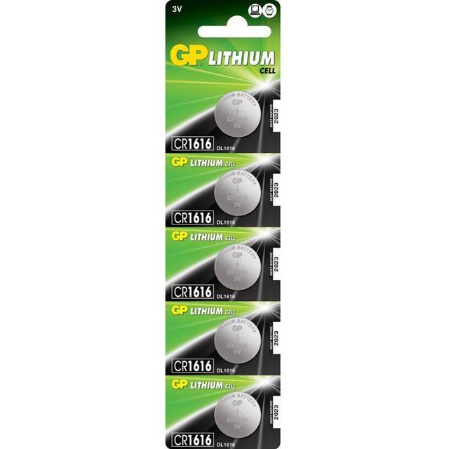 GP Batteries CR1616 5-pack