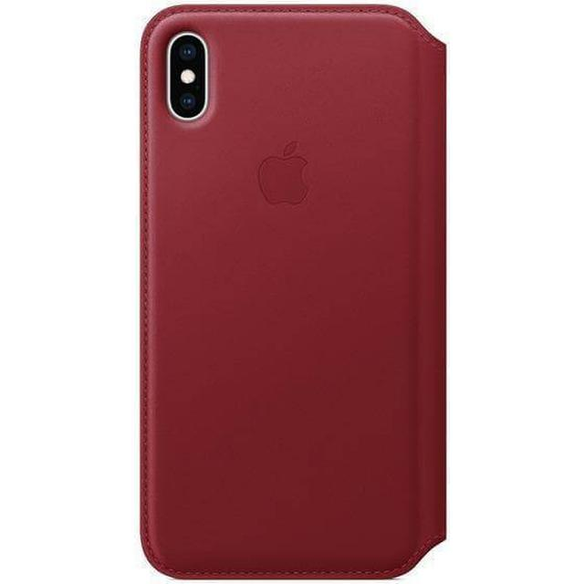 Apple Leather Folio Case (PRODUCT)RED (iPhone XS Max)