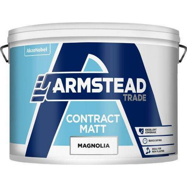 Armstead Trade Contract Matt Wall Paint, Ceiling Paint Beige 10L