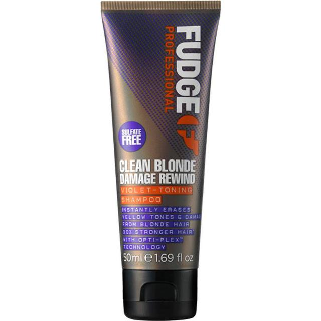 Fudge Clean Blonde Damage Rewind Violet-Toning Shampoo 50ml