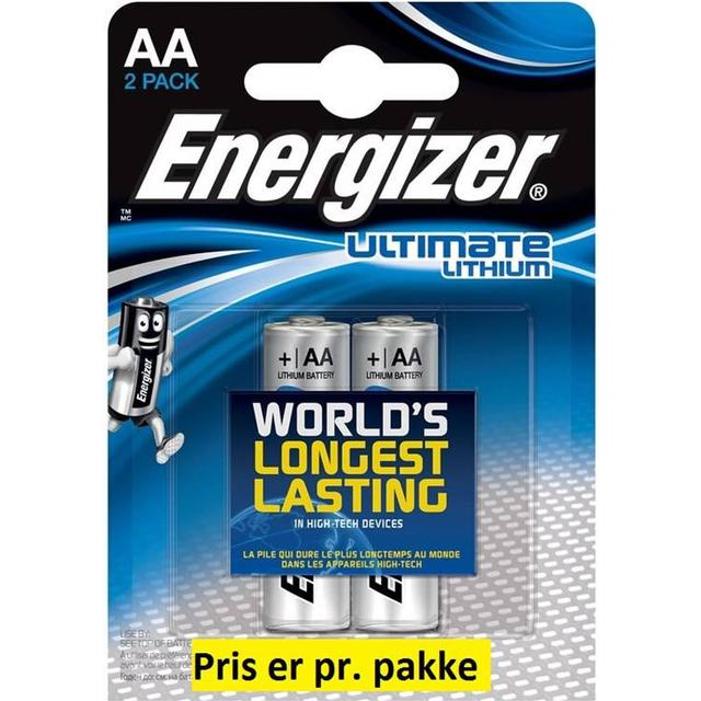 Energizer AA Ultimate Lithium Compatible 2-pack