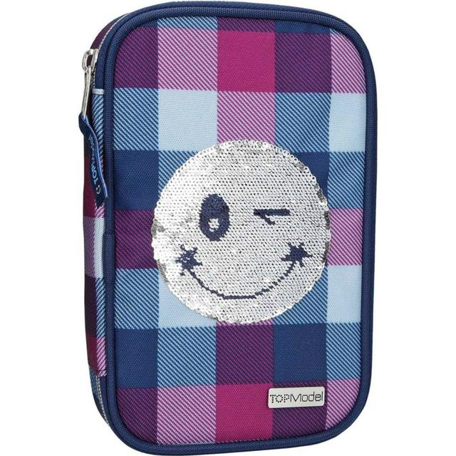 Top Model Soft Pencil Case Sequins Smiley