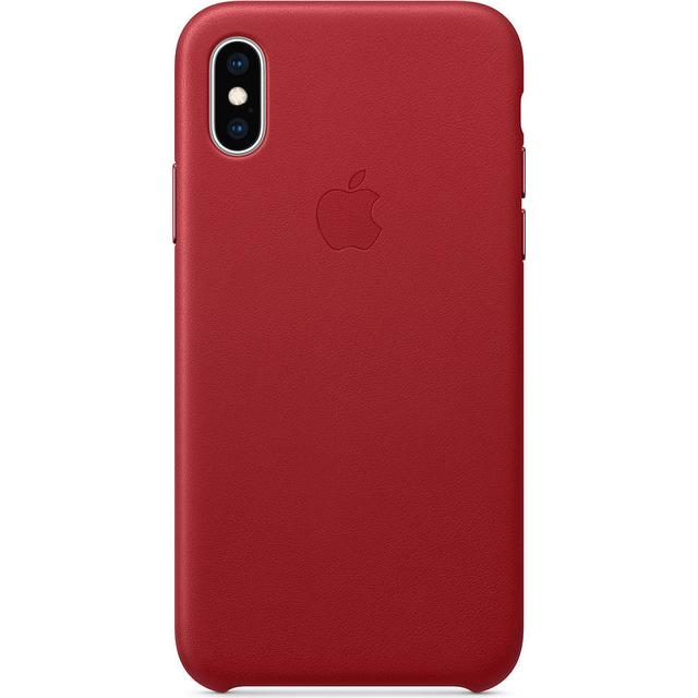 Apple Leather Case (PRODUCT)RED (iPhone XS)