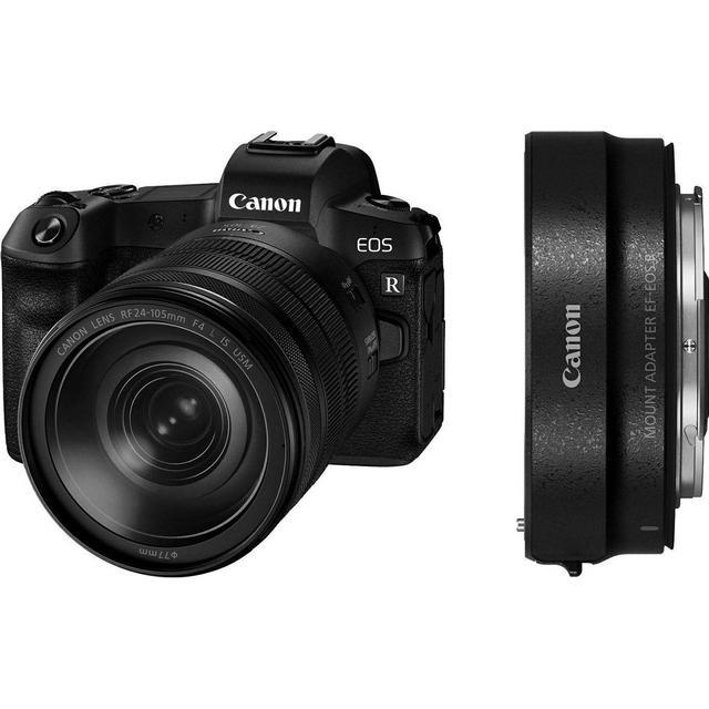 Canon EOS R + RF 24-105mm f/4L IS USM + Adapter EF-EOS R