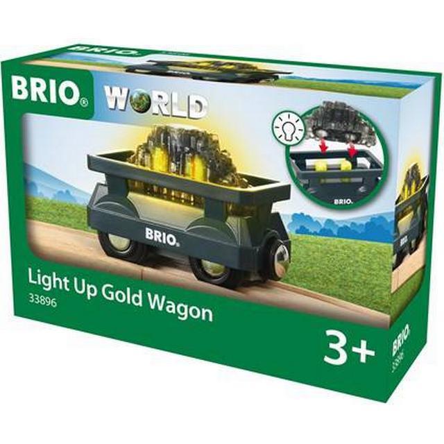 Brio Light Up Gold Wagon 33896