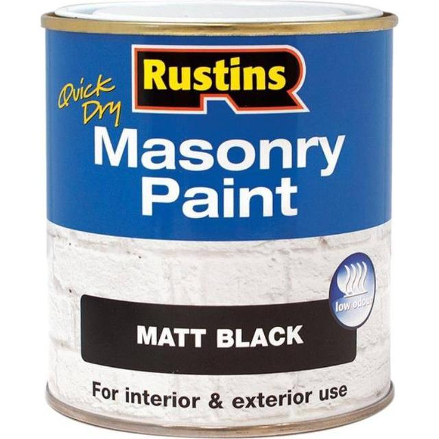 Rustins Quick Dry Masonry Concrete Paint Black 0.25L
