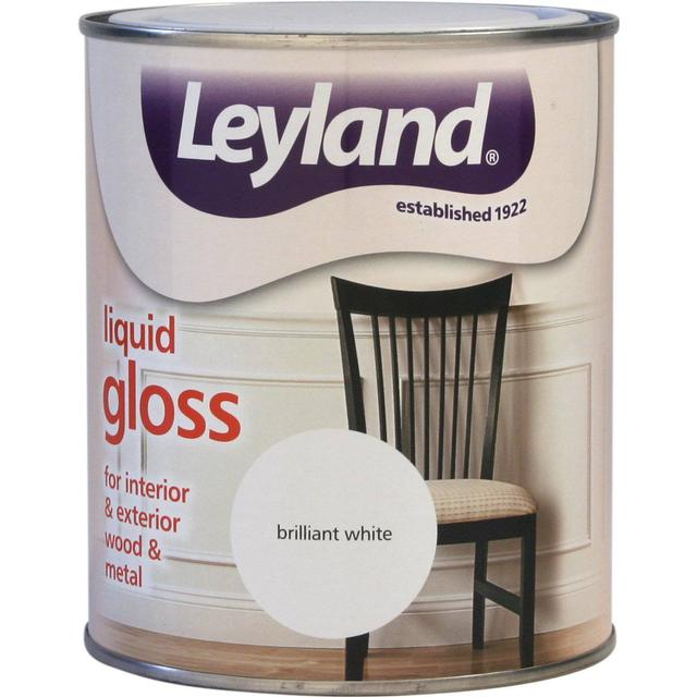 Leyland Trade Liquid Gloss Wood Paint, Metal Paint White 0.75L