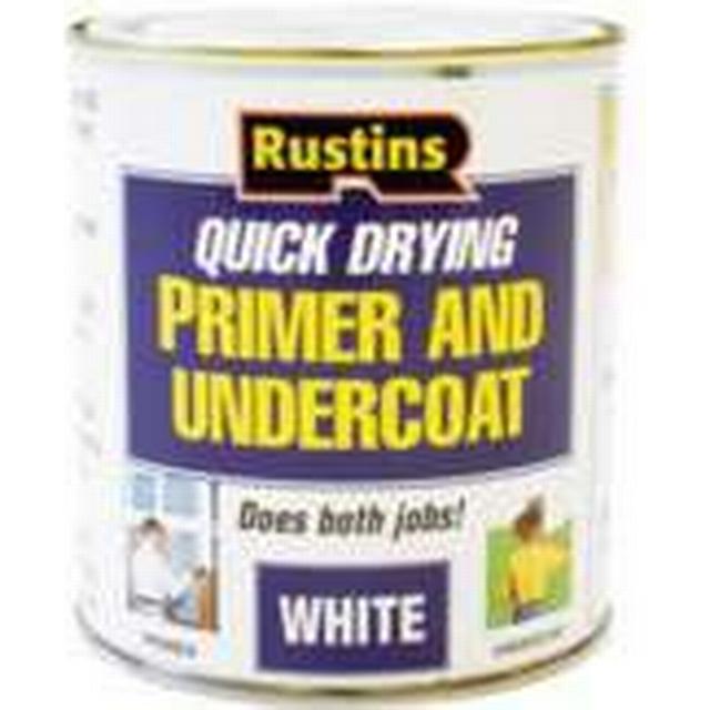 Rustins Quick Dry Primer & Undercoat Wood Paint White 0.25L