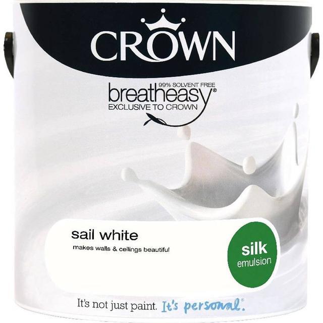 Crown Silk Emulsion Wall Paint, Ceiling Paint White 2.5L
