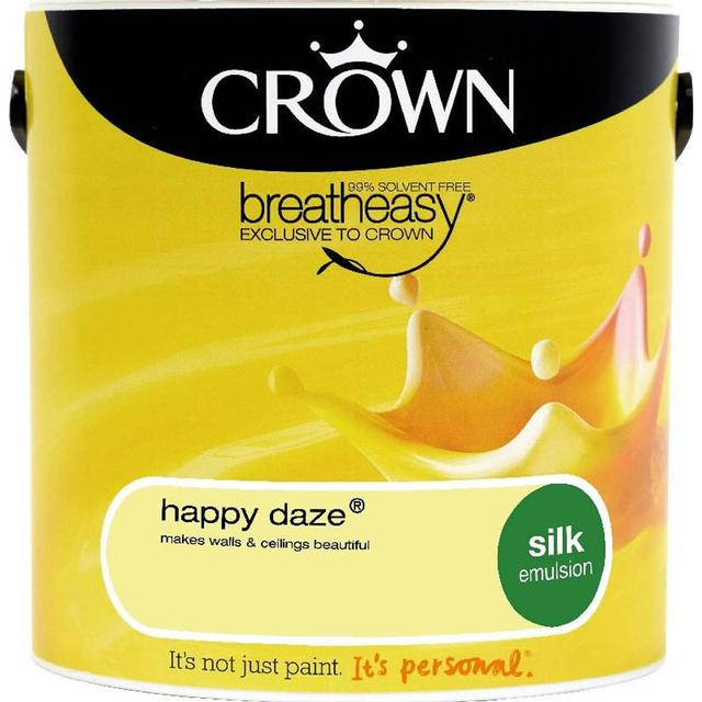 Crown Silk Emulsion Wall Paint, Ceiling Paint Yellow 2.5L