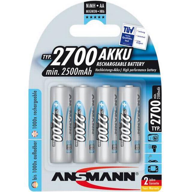 Ansmann NiMH Mignon AA 2700mAh Compatible 4-pack