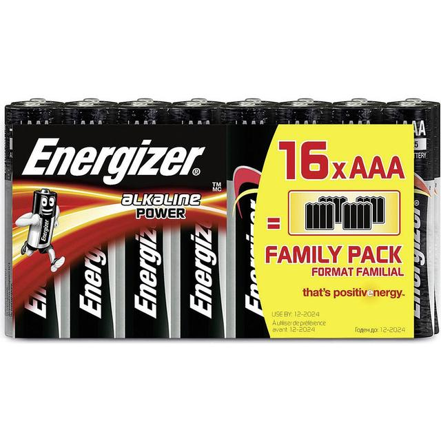 Energizer AAA Alkaline Power Compatible 16-pack
