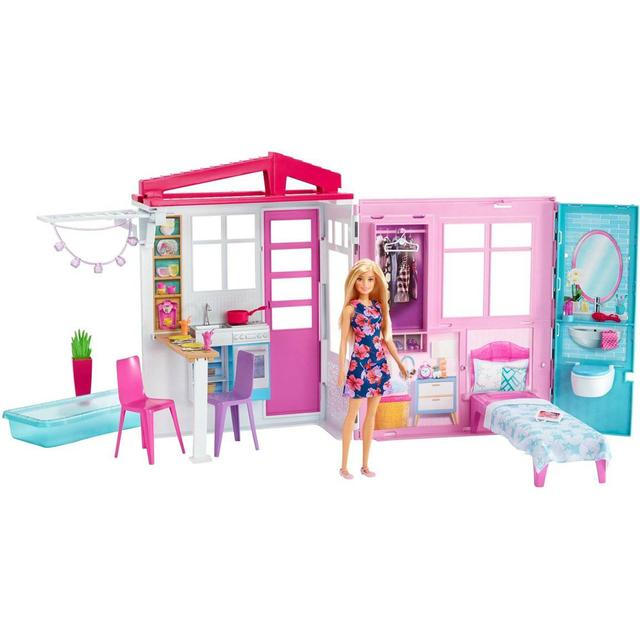 Mattel Barbie House & Doll