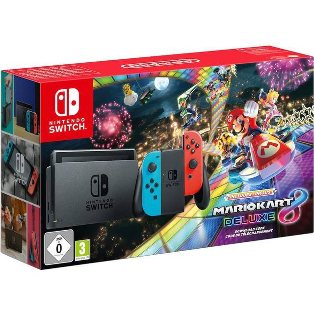 Nintendo Switch - Red/Blue - 2019 - Mario Kart 8 Deluxe