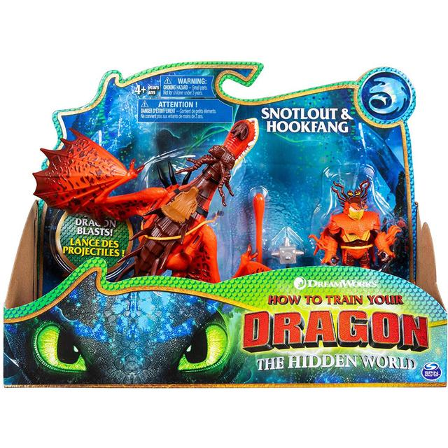 Spin Master Dreamworks How to Train Your Dragon 3 Snotlout & Hookfang