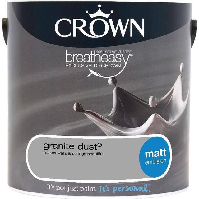 Crown Matt Emulsion Wall Paint, Ceiling Paint Grey 2.5L