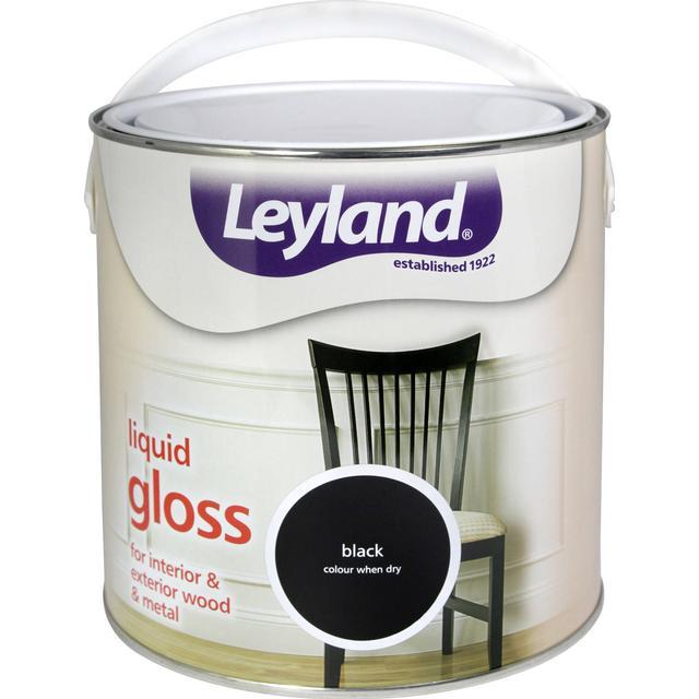 Leyland Trade Liquid Gloss Wood Paint, Metal Paint Black 0.75L