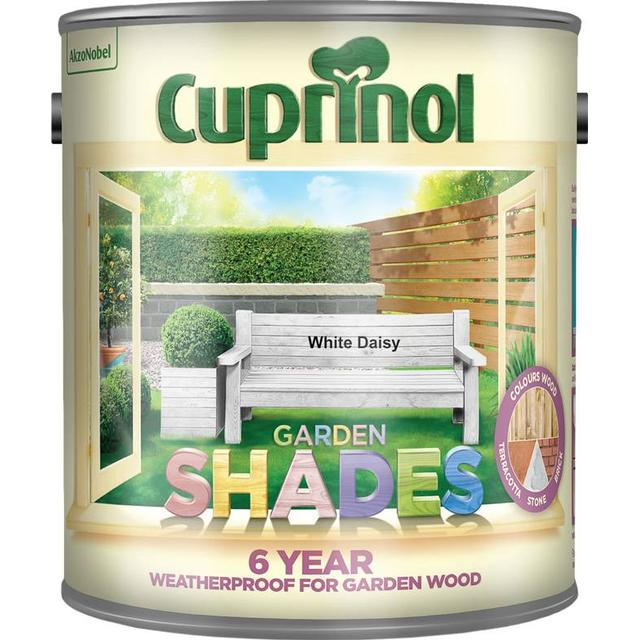 Cuprinol Garden Shades Wood Paint White 2.5L