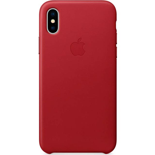 Apple Leather Case (PRODUCT)RED (iPhone X)