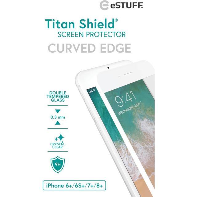 eSTUFF Titan Shield Curved Edge Screen Protector (iPhone 6+/6S+/7+/8+)