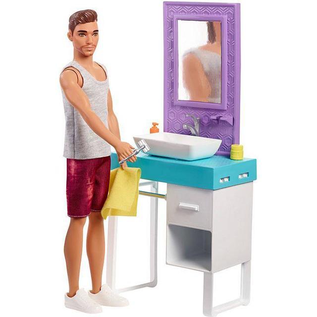 Mattel Barbie Ken & Bathroom Playset FYK53