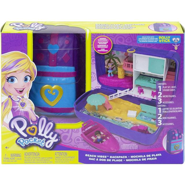 Mattel Polly Pocket Hidden Places Beach Vibes Backpack