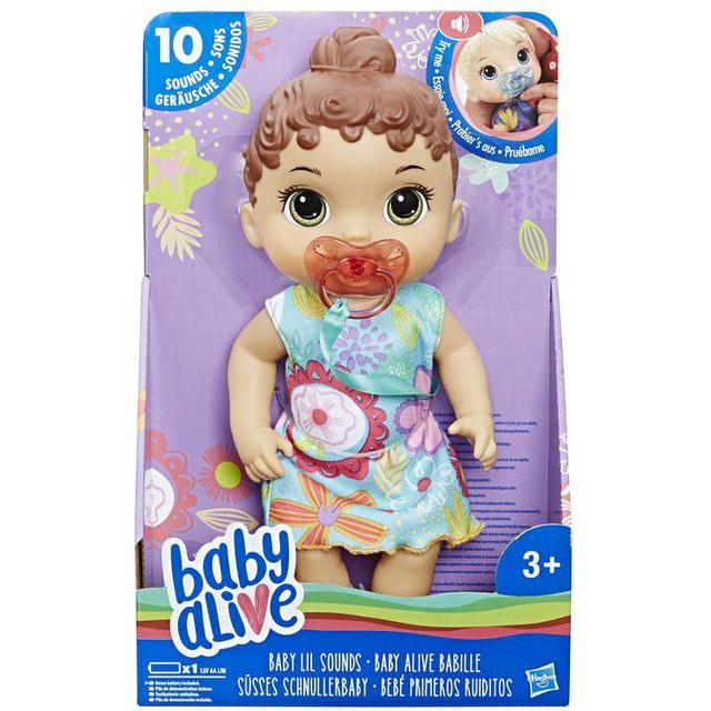 Hasbro Baby Alive Baby Lil Sounds Interactive Brown Hair Baby Doll E3688