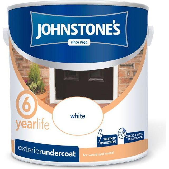 Johnstones Weatherguard Exterior Undercoat Wood Paint, Metal Paint White 2.5L