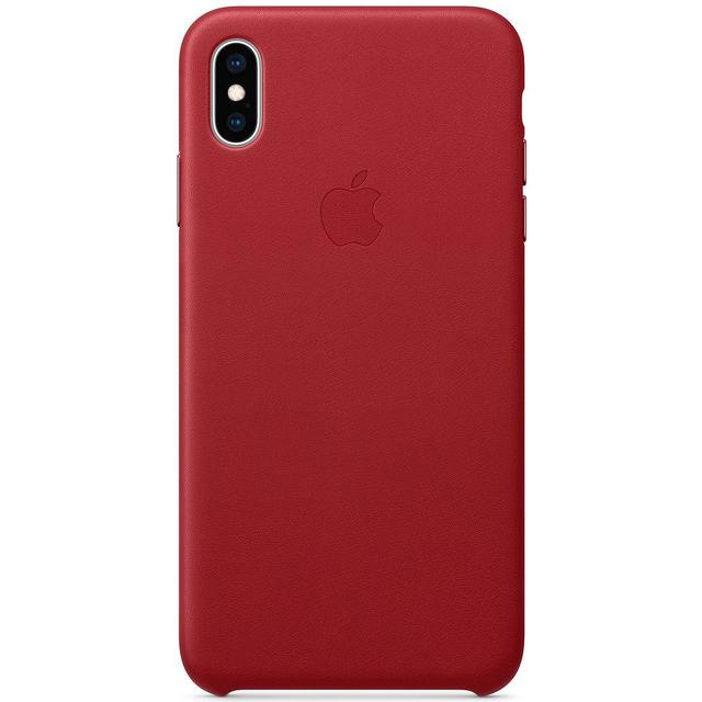 Apple Leather Case (PRODUCT)RED (iPhone XS Max)