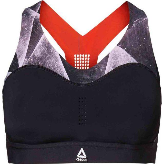 Reebok Puremove Shattered Ice Sports Bra - Black