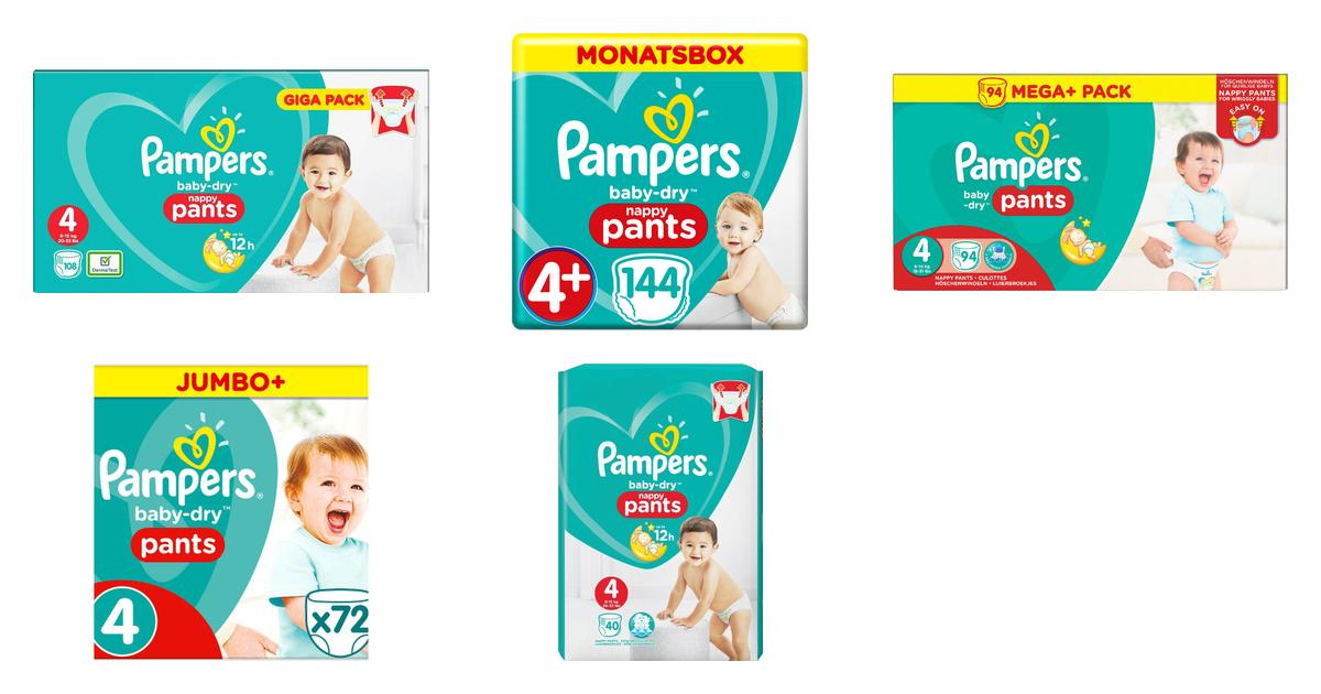 Ea... 144 Nappy Pants Monthly Saving Pack Pampers Baby-Dry Nappy Pants Size 5